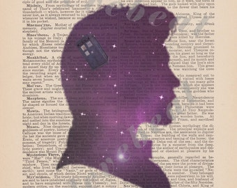 """Doctor Who- 11th Doctor Antique Art """"We're All Stories"""" Instant Download"""