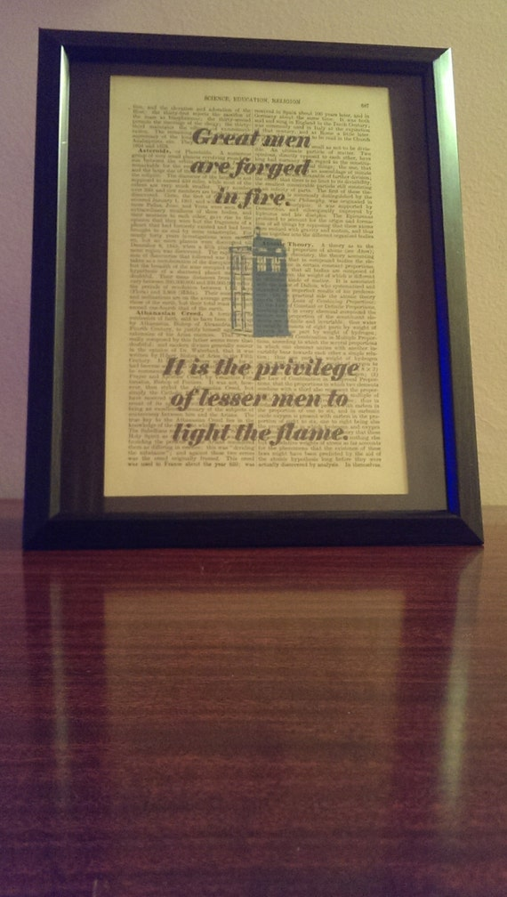 Doctor Who Art Print Great Men Forged In Fire Antique Etsy