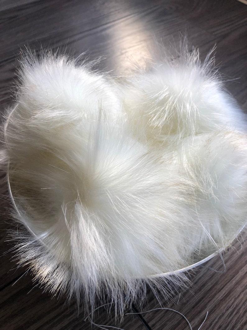 White Fur Pom Pom Faux Fur Pom Pom Vegan Fur Pom Pom Fur Pom Pom