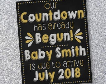 New Years Eve pregnancy announcement/Digital Download/High Resolution/Customized
