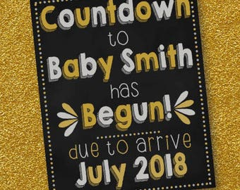 New years Eve Pregnancy Announcement/Countdown has begun/digital download/high resolution