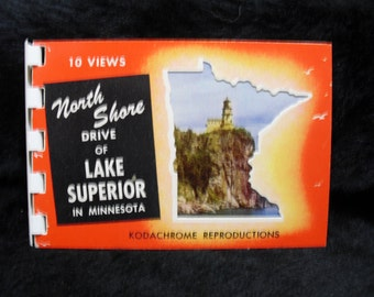 Souvenir - North Shore Drive of Lake Superior in MN 10 Kodachrome Views