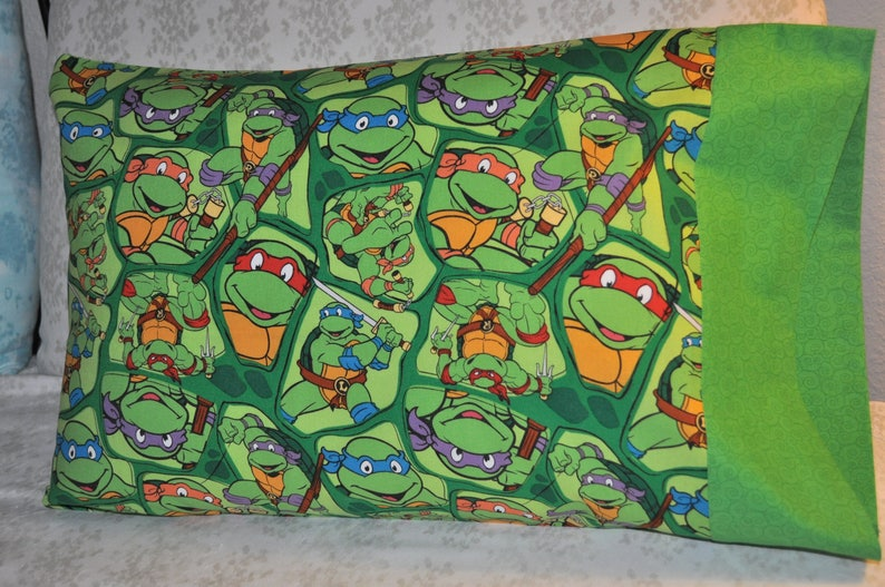 Handmade Travel  Toddler Pillow Case Teenage Mutant Ninja Turtles