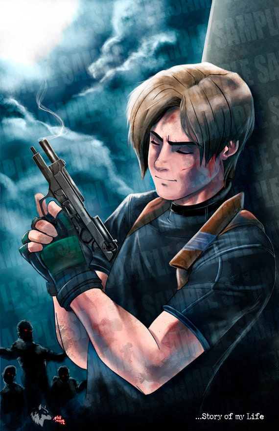 Resident Evil 4 Leon Story Of My Life Poster Print Wall Art Etsy