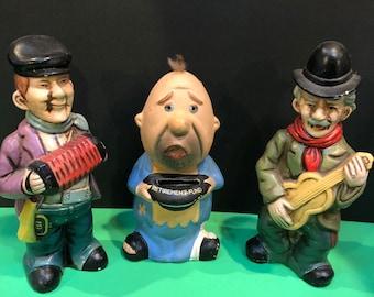 Retirement Fund Bum Figurine Bank Vintage Sad Hobo Ceramic Bank Chadwick Made in Japan