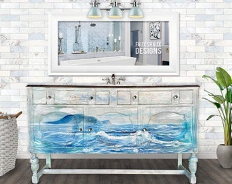Nautical bathroom vanity