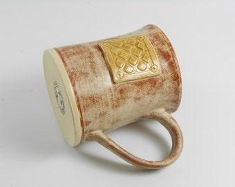Pottery mug  - ceramic mug - coffee mug - tea mug - handmade mug   M111