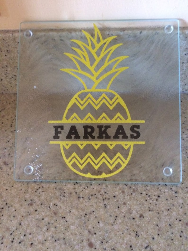 Personalized Pineapple Cutting Board Serving Tray Etsy