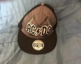 9f513d620be AC DC Snapback Baseball Hat Cap