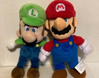"Super Mario Bros MARIO and LUIGI 8"" Plush Dolls Toys Nintendo"