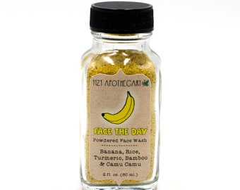 Face The Day Powdered Face Wash, Organic Face Wash, Natural Beauty, Vegan Skincare, Facial Cleanser