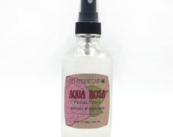 Organic Rose Water Skin Tonic, Organic Toner, Natural Makeup Setting, Vegan Moisturizer, Facial Toner