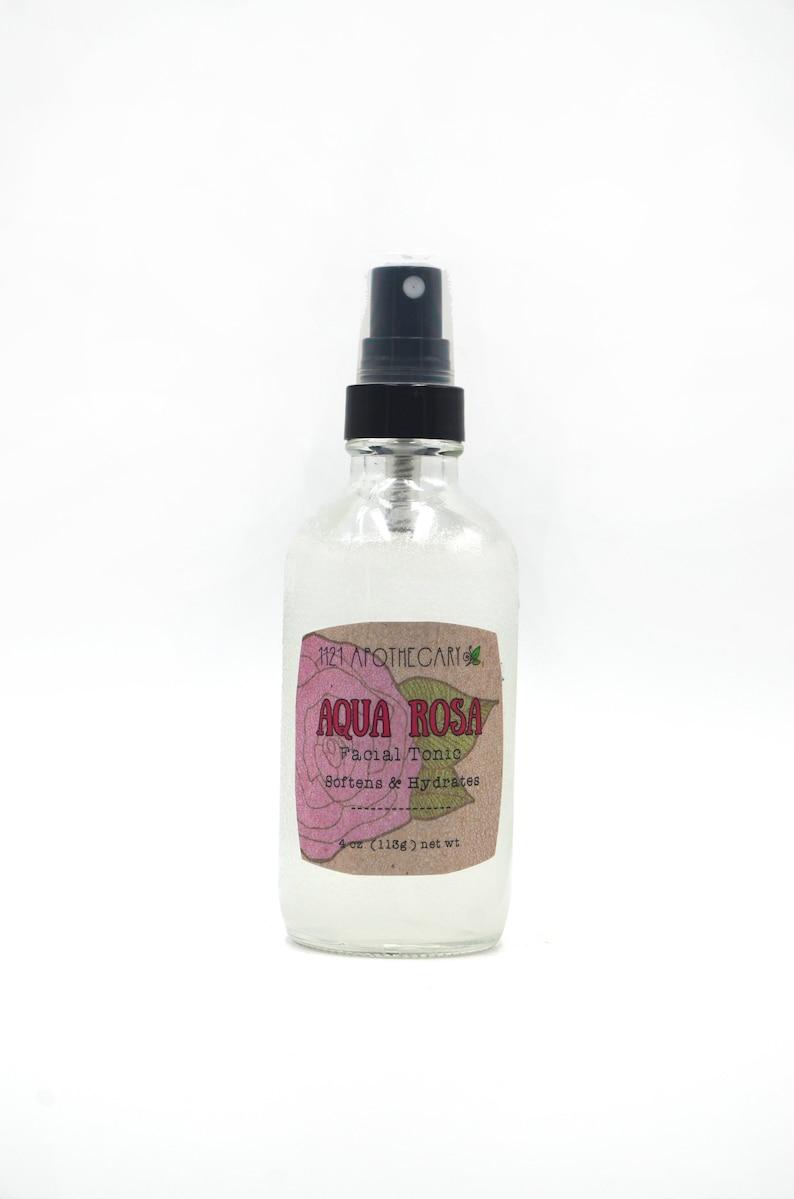Organic Rose Water Skin Tonic Organic Toner Natural Makeup image 1