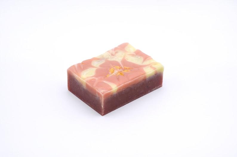 Strawburst: Glittery Strawberry Vegan Soap image 0