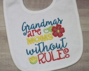 GRANDMA's are special - Personalized GRANDMA Baby Bib