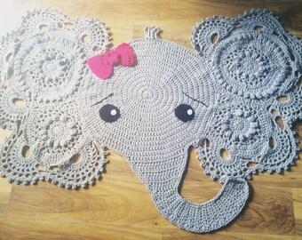 CROCHET PATTERN Josefina and Jeffery Elephant Rug PDF Crochet | Etsy | 270x340