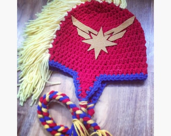 f5a0d39cad766 Captain marvel inspired Hat (made to order)