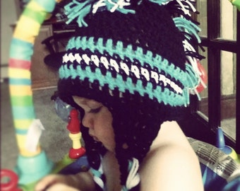 mohawk hat  (made to order)
