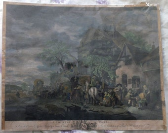 A Country Wake from original pictur painted by Isaac Ostade published Jan 1st 1771