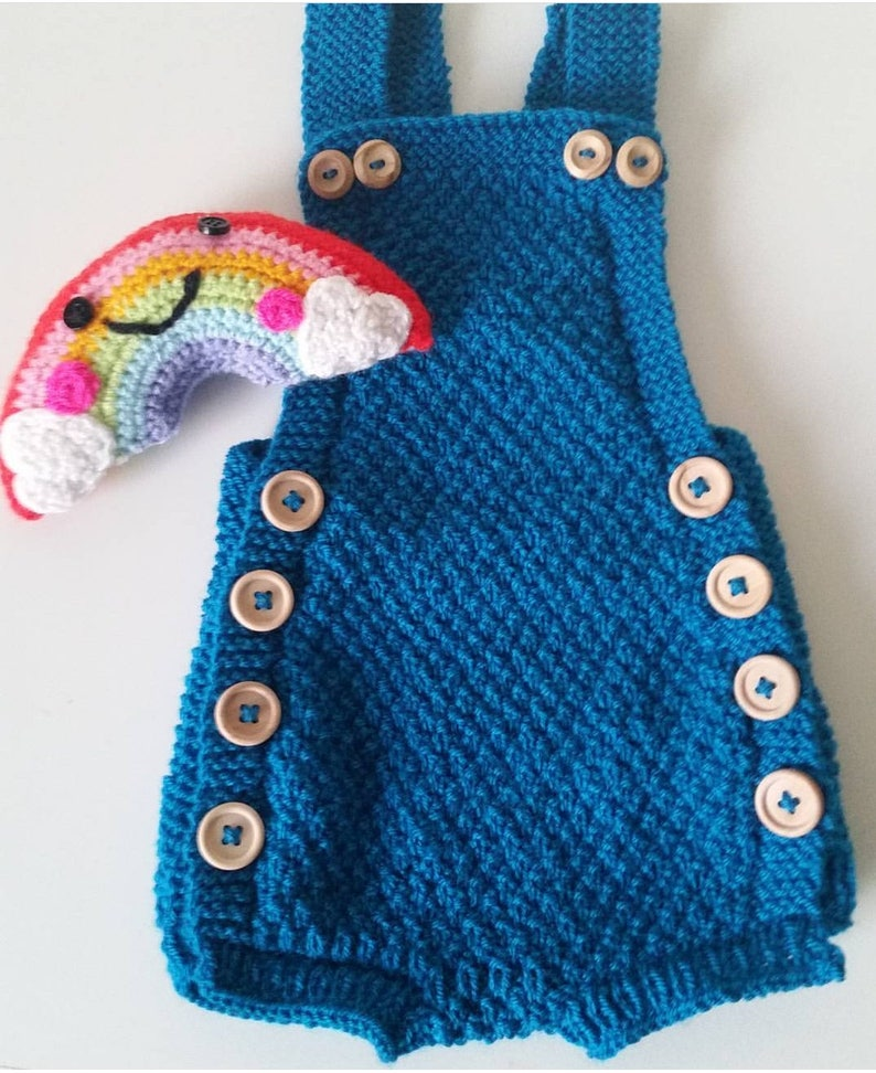 113d827f Handknit romper short suit. Handknit childrens clothes. Baby clothing.  Knitted romper. Knitted short suit. Knitted baby clothes. Baby shower