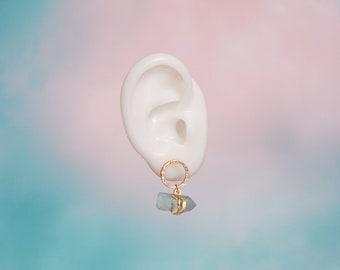 GOLD OR SILVER Dainty Yellow Quartz Earrings  Hypoallergenic Earrings  Stone Earring  Stainless Steel  Minimal earrings