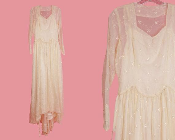 Vintage Wedding Dress / 1950's Wedding Dress / Vin