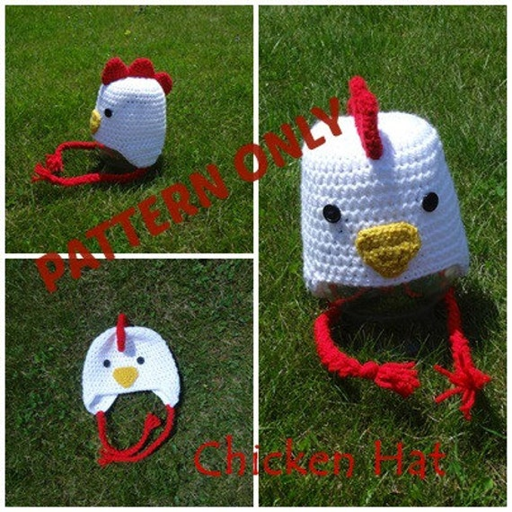 Chicken Hat Crochet Pattern Etsy