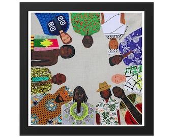 Black Man Brotherhood - African Fashion - Art Print Wall Art