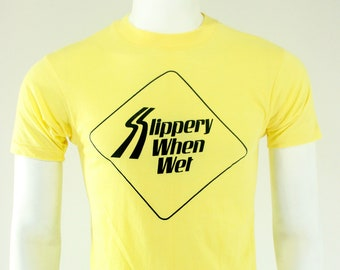 1986 Bon Jovi Slippery When Wet T-Shirt M 80's
