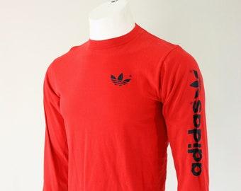 80's ADIDAS Long Sleeve Shirt L