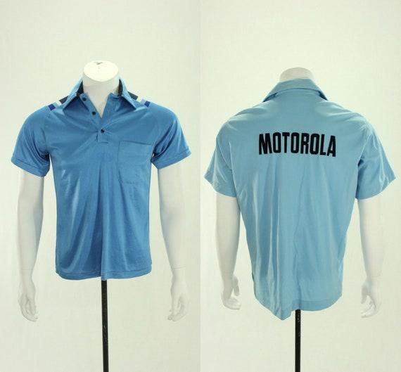 60's Motorola Bowling Shirt L