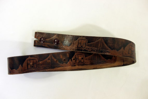 VTG San Francisco Tooled Leather Belt