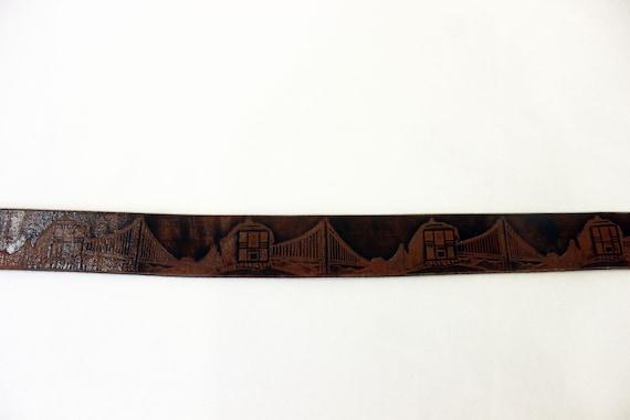 VTG San Francisco Tooled Leather Belt - image 5