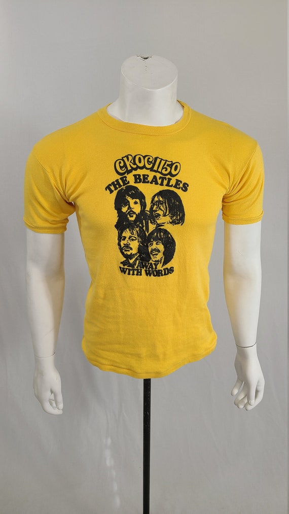 70's The Beatles Away With Words T-Shirt
