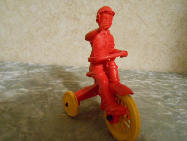 1950/'s Auburn Boy on his Tricycle