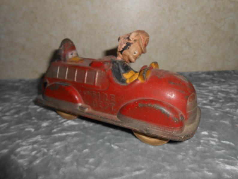 1940/'s Walt Disney Sun Rubber Mickey Mouse w Donald