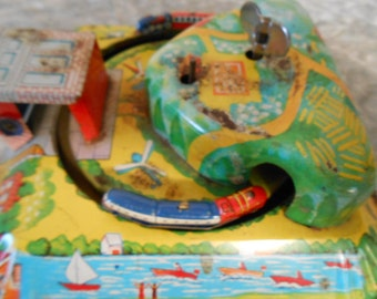 1950's  Wind-Up Train (Line Mar Toys)