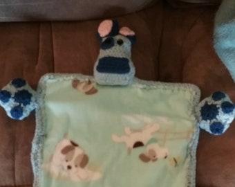 Blue Crocheted Dog Blankie