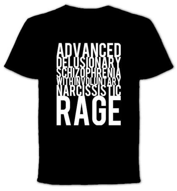 delusional schizophrenia with involuntary narcissistic rage