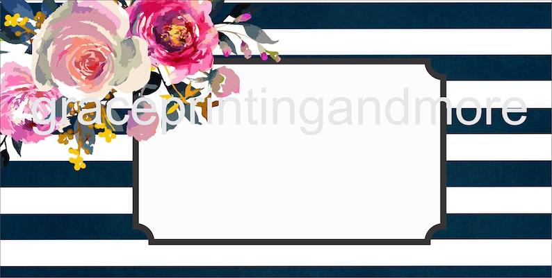 photo regarding Printable License Plate Template named License plate Template Printable Digitial Floral chevron striped