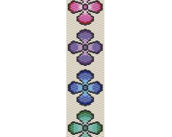 Faded Flowers Peyote Cuff Bracelet Pattern