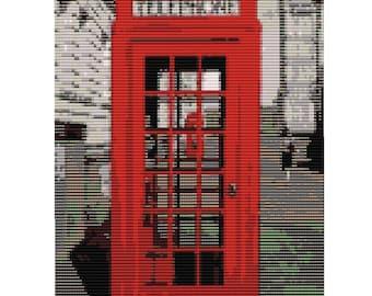 Telephone Box Loom Tapestry