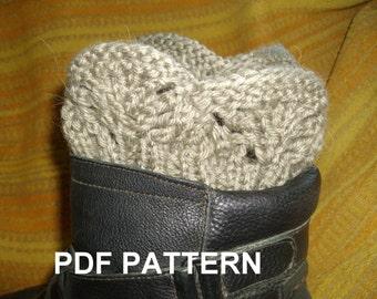 PDF KNITTING PATTERN   Boot cuffs, legwarmer, lace, ribbed