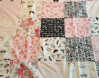 LAP QUILT, Breast Cancer Awareness, Pink Ribbon, Panties, Bras, Bedding