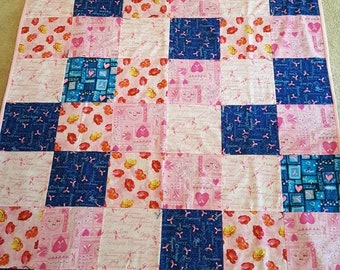 LAP QUILT, Breast Cancer Awareness,  Pink Ribbon, Bedding