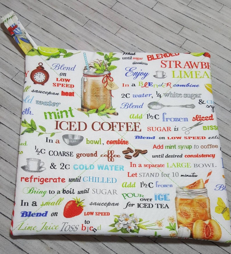 Summer Beverages Hot Pads Kitchen Kitchen Decor Iced Coffee Recipes Potholders