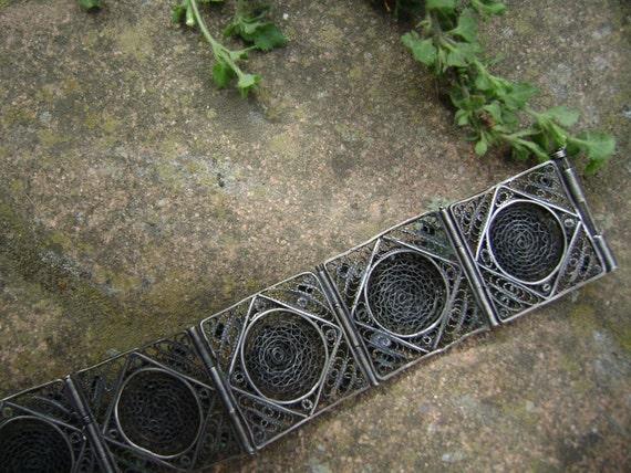 vintage sterling egyptian revival bracelet - image 5