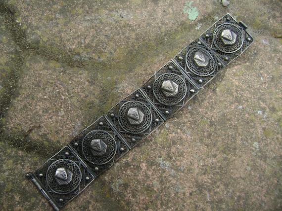 vintage sterling egyptian revival bracelet - image 3