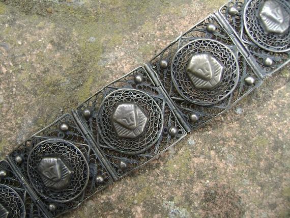 vintage sterling egyptian revival bracelet - image 1