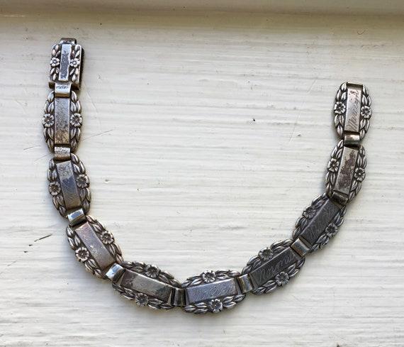 vintage sweetheart bracelet, sterling